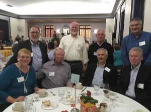 Seated, left to right, are Beatrice Rodgers, Greg Bertles, Fran Lattanzio and Tom Weidman. Standing, left to right, are Steve Belden, Pete Bothwell, Will Morgan and Ralph Blanchard.